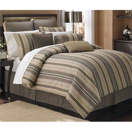 Strata Stripe 4pc Comforter Set, Cal-King