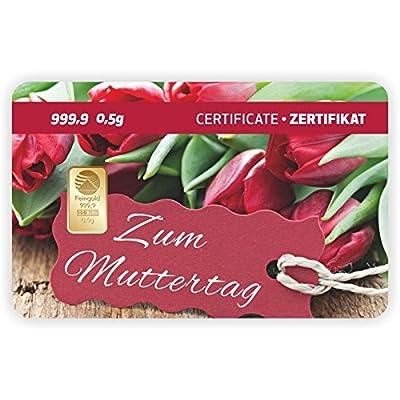 Goldbarren Geschenkkarte 0,5 g 0,5g Gramm Feingold 999.9 Nadir Gold Mama Papa Muttertag
