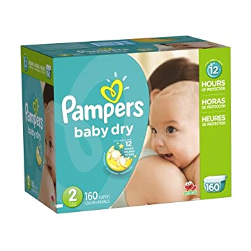 Pampers Baby Dry Diapers Economy Pack (Size 2, Pack of 160)