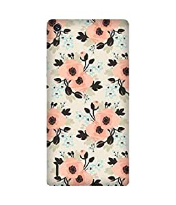 Pink Flowers Huawei Ascend P7 Case