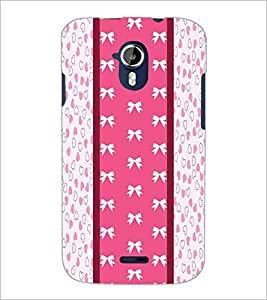 PrintDhaba Ribbon Pattern D-3229 Back Case Cover for MICROMAX A116 CANVAS HD (Multi-Coloured)