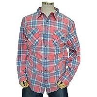 (ゲス)GUESS 長袖チェックシャツ ピンク/スレートグレー 2XL 【並行輸入品】