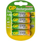 GP Batteries GPRHC272C033 AA 2550mAh 2700 Series Rechargeable Batteries Carded 4