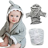 Tulatoo Baby Hooded Shark Towel and Washcloth Set - Perfect Gift Bath Set for Babies, Newborns, Infants, Boys Or Girls - Toallas Para Bebe by Tulatoo