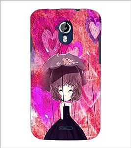 PrintDhaba Umbrella Girl D-4661 Back Case Cover for MICROMAX A116 CANVAS HD (Multi-Coloured)