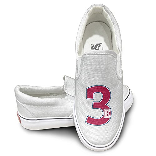 Custom Unisex Footwall Canvas Shoes Los Angeles Basketball Player Chris Travel White