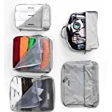 V-Share Bag In Bag 5 Pieces Set Travel Packing Cube In Grey Color: Grey, Model: