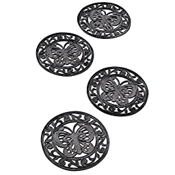 Collections Etc Garden Butterfly Rubber Stepping Stones - Set of 4