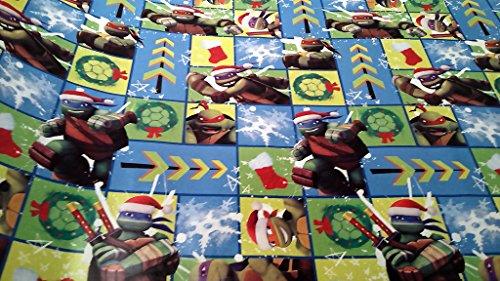 Christmas Wrapping Teenage Mutant Ninja Turtle Santa Hat Holiday Paper Gift Greetings 1 Roll Design Festive Wrap TMNT Square
