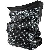 ZANheadgear Paisley 100 Percentage Polyester Motley Tube (Black)