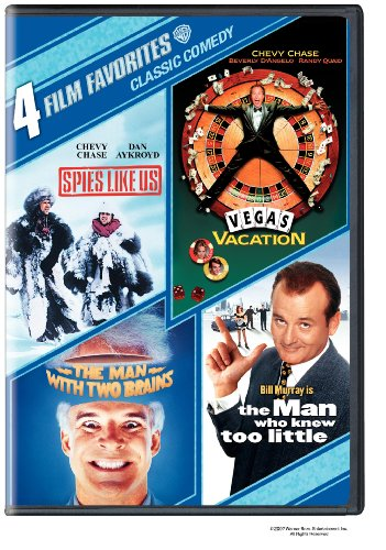 Cover art for  Classic Comedy: Four Film Favorites (The Man With Two Brains / Spies Like Us / Vegas Vacation / The Man Who Knew Too Little)