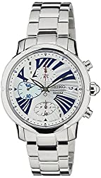 Seiko Criteria Chronograph White Dial Womens Watch - SNDY03P1