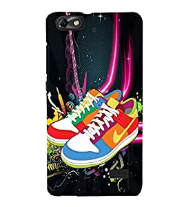 Multicoloured Shoes 3D Hard Polycarbonate Designer Back Case Cover for Huawei Honor 4C :: Huawei G Play Mini