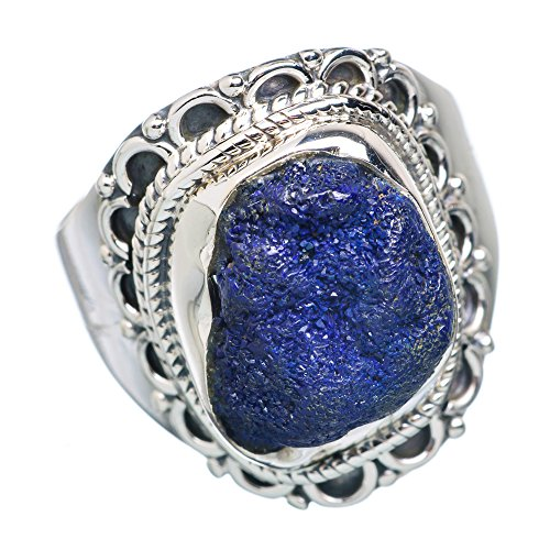 Ana Silver Co Rough Azurite 925 Sterling Silver Ring Size 8.5 RING729977 (Azurite Ring compare prices)