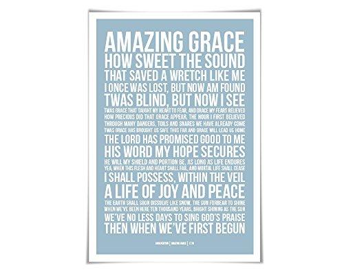 Amazing Grace Art Print. 60 Colours/3 Sizes. Bible Verse Art. Scripture. Inspirational Christian Poster. Biblical Prayer (Amazing Grace Picture compare prices)
