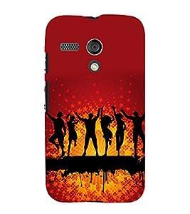 printtech Disco Party Dance Back Case Cover for Motorola Moto G X1032 / Motorola Moto G (1st Gen)