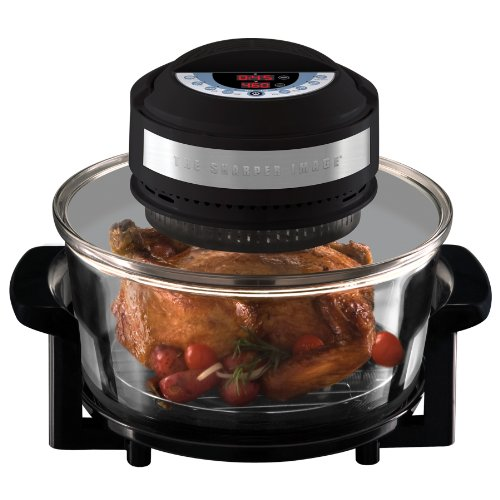 The Sharper Image Black Infrared, Carbon Heat and Convection Technology Super Wave Digital Oven