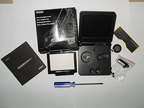 Full Parts Replacement Housing Shell Pack for Nintendo Gameboy Advance SP GBA SP(Black)(Battery is Not included) (Gameboy Advance Sp Full Housing compare prices)