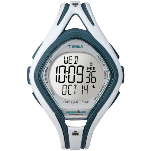 Timex Ironman Sleek 150 Lap Tap Watch - White/Blue