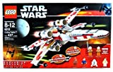 Lego Year 2006 Star Wars Series Vehicle Set #6212 - X-WING FIGHTER with S-Foil Wings, Folding Landing Gear and Cargo Hold Plus 6 Hard to Find Minifigures Luke Skywalker, Wedge Antilles, Chewbacca, Han Solo, R2-D2 and Princess Leia (Total Pieces: 437) by