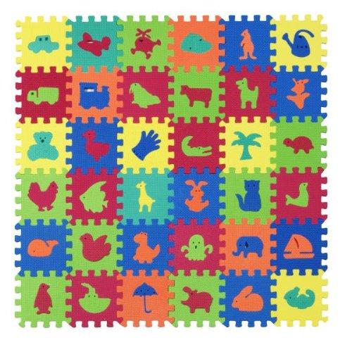 Puzzlematten - Motivset 36-teilig, ca. 0,77 m2, Bodenpuzzle, Spielteppich aus EVA Schaumstoff
