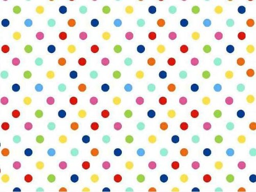 Sheetworld Fitted Pack N Play (Graco) Sheet - Primary Colorful Polka Dots Woven - Made In Usa