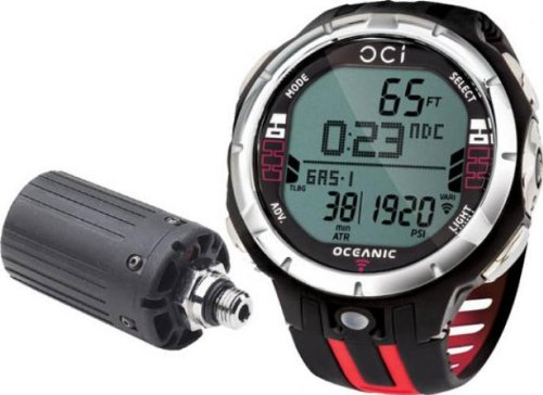 Oceanic oci wireless dive watch computer red sporting - Oceanic dive watch ...