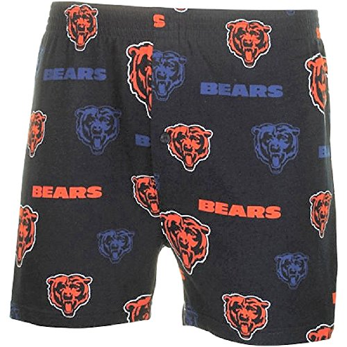Chicago Bears Mens Blue Insider Boxer Shorts by Concepts