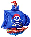 Anti-Gravity Flying Floating 36 Blue Pirate Ship Balloon Party Favor Hovering Toy.