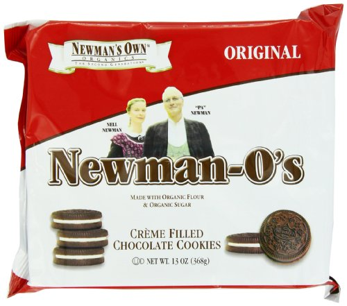 Newman'S Own Organics Newman-O'S, Crème Filled Chocolate Cookies, 13-Ounce Packages (Pack Of 6)