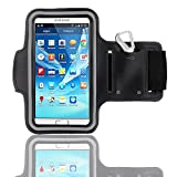 Dealgadgets Black Protective Gym Jogging Sports Armband Case Cover for Samsung Galaxy Note 4