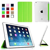 Fintie iPad Air Ultra Slim Lightweight Case with Semi Transparent Hard Shell Support Smart Cover Auto Wake / Sleep for Apple iPad Air (5th Gen) - Green/Frost from Fintie