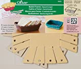 Clover 8424 2-Piece 7-Inch by 5-1/8-Inch by 2-Inch Basket Frames, Large, Square