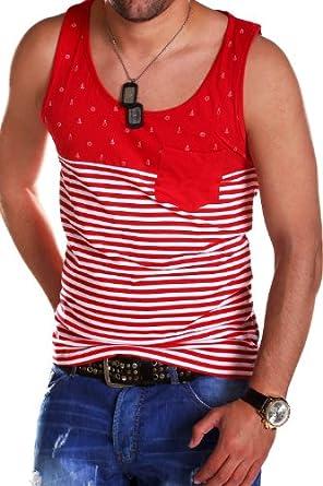 MT Styles - Stripe Mosedale - Débardeur à rayures - Rouge - L