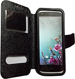 NAV FILP CASE COVER WITH SILICONE HOLDER FOR INTEX AQUA 3G STRONG