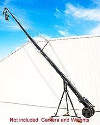 PROAIM KITE-33 TITAN PACKAGE ( 33ft Octagonal Video Camera Crane with Heavy Duty Tripod Stand(HD-STD), 3- Axis dutch roll pan tilt head, floor dolly, E-focus)(KITE-33-TITAN)