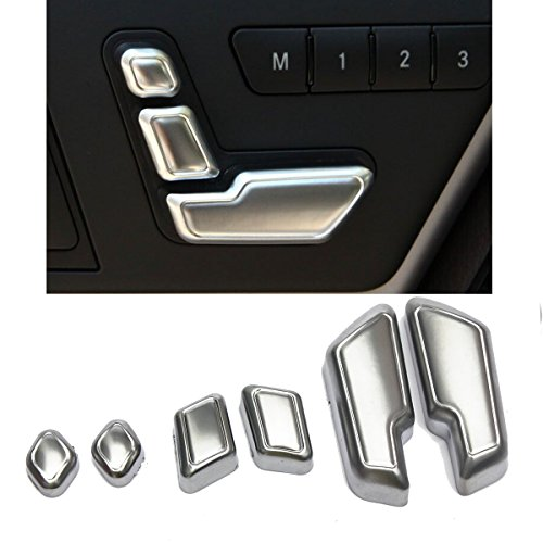 Best Deals! MATCC Chrome Door Seat Adjust Buttons Switch For Mercedes-Benz E Class W212 218 CLS GL