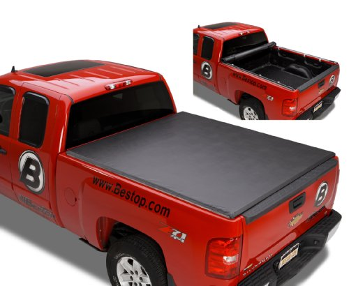 Bestop 17205-01 EZ Roll Truck Tonneau Cover for Chevy Silverado/GMC Sierra, 6.5' Bed, (Classic body style only) 1999-2007