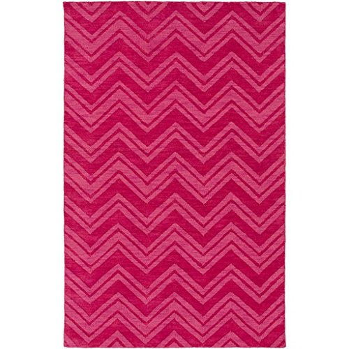 5' X 8' Dashing Waves Electric Shock And Fresh Lily Pink Hand Woven Area Throw Rug