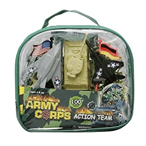Army Soldiers Play Set In Easy To Carry