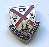 Clydebank Scotland Town Flag / Crest Pin Badge