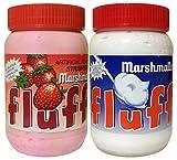 【セット品】fluff(フラフ) マシュマロクリーム ストロベリーフレーバー&バニラ 味くらべセット