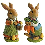 Design Toscano Bunny Hop Lane Mother and Father Rabbit Statues (Set of 2)