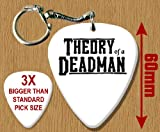 Theory Of A Deadman BIG Guitar Pick Keyring