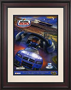 NASCAR Framed 10.5 x 14 Daytona 500 Program Print Race Year: 51st Annual - 2009 by Mounted Memories