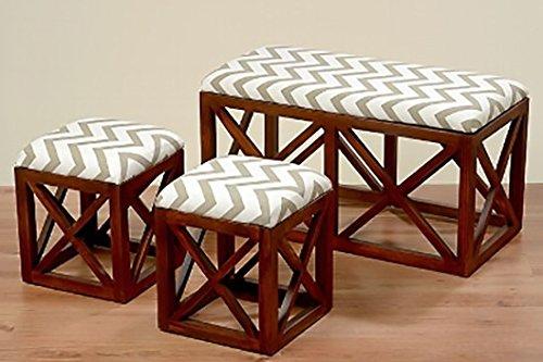 Sedile per wc, Set di 3pezzi, 86cm, colore: marrone