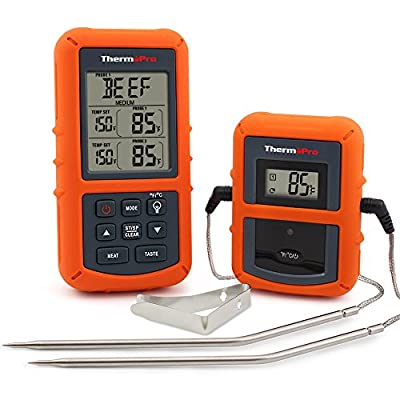 ThermoPro TP20 Wireless Remote Digital Cooking Food Meat Thermometer with Dual Probe for Smoker Grill Oven BBQ