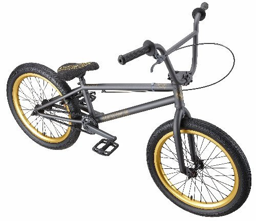 Eastern Bikes Reaper BMX Bike (Matte Graphite Black with Gold, 20-Inch)