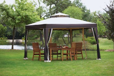 GAZEBO VENTED CANOPY ZIPPERED MESH SCREEN ... : canopy with screen - memphite.com