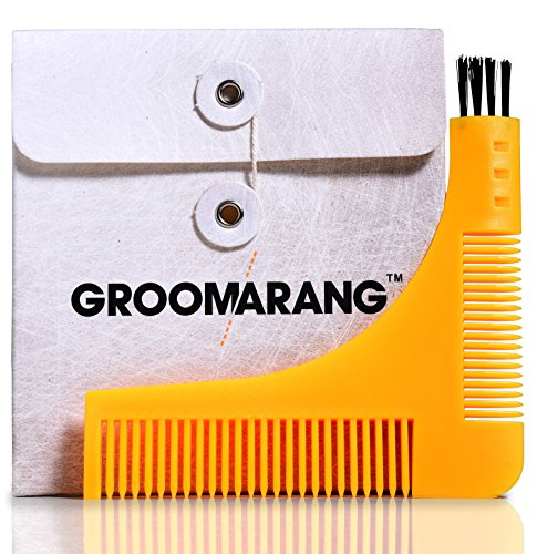 Beard Styling and Shaping Template Comb Tool (Ear Wax Liquid compare prices)